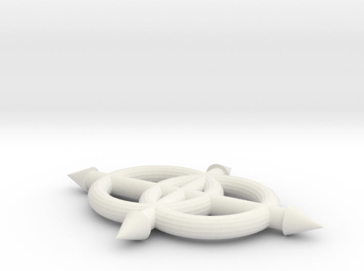 Lojban Logo, full color - new proportions 3d printed