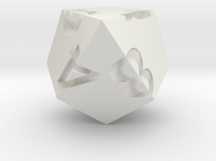 Kite d8 (solid) 3d printed