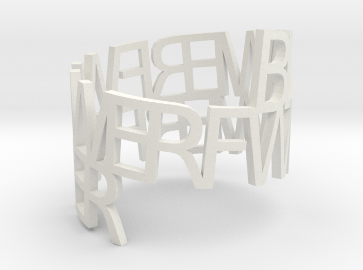 Ring Poem test 3d printed