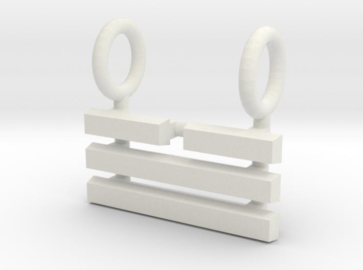 I Ching Trigram Pendant - Tui Upper 3d printed