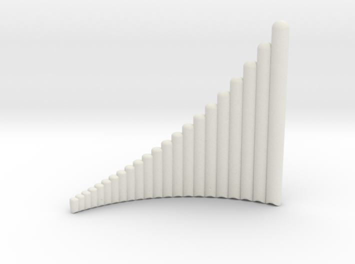 Left handed Jazz Standard wholetone panflute 3d printed