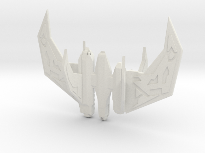 point tooth fighter 3d printed