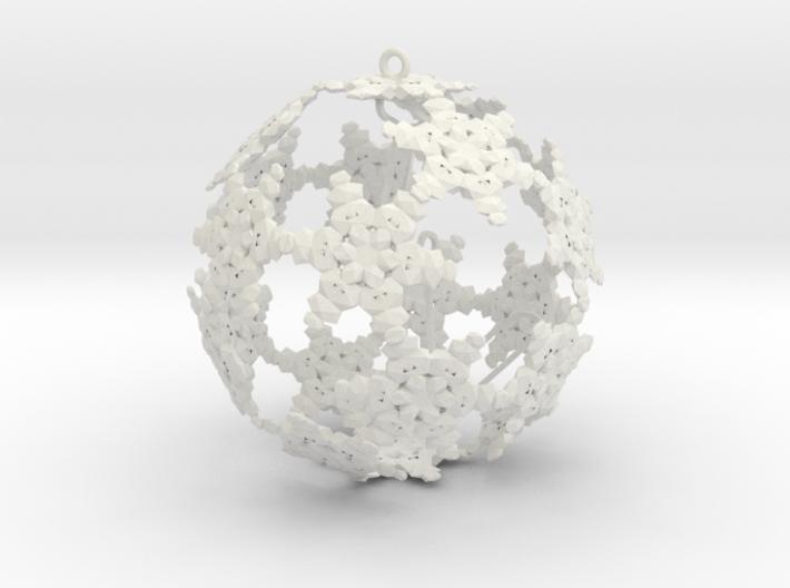 SnowBauble Initials 3d printed