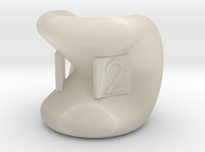 Star Sphericon dual d2 3d printed