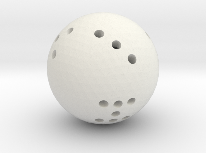 Round 8-sided die 3d printed