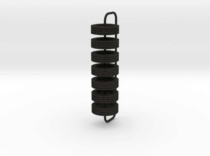 1/64 Tires for Road Runner trailer 3d printed