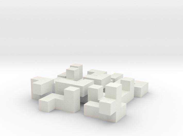 Building a cube (medium) 3d printed