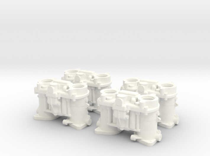 1/8 Scale Weber Down Draft Carburetors 3d printed