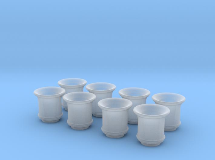 1/16 Weber Side Draft Velocity Stacks 3d printed