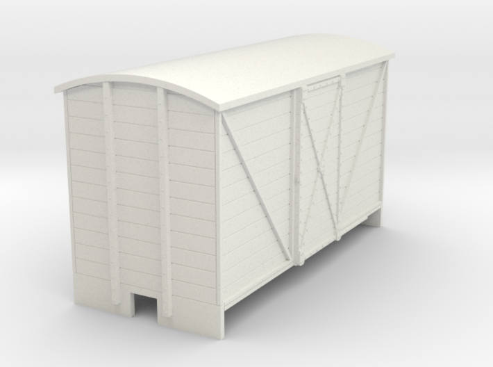 OO9 Goods van (long) sliding door 3d printed