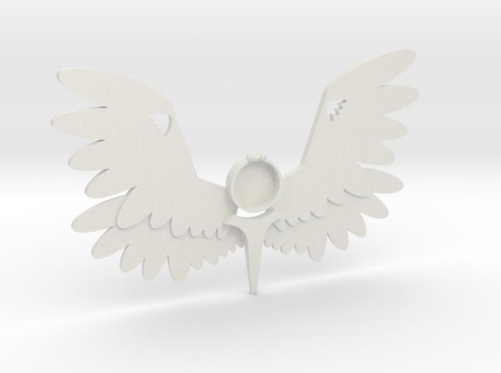 Large Angel Pendant m2 3d printed