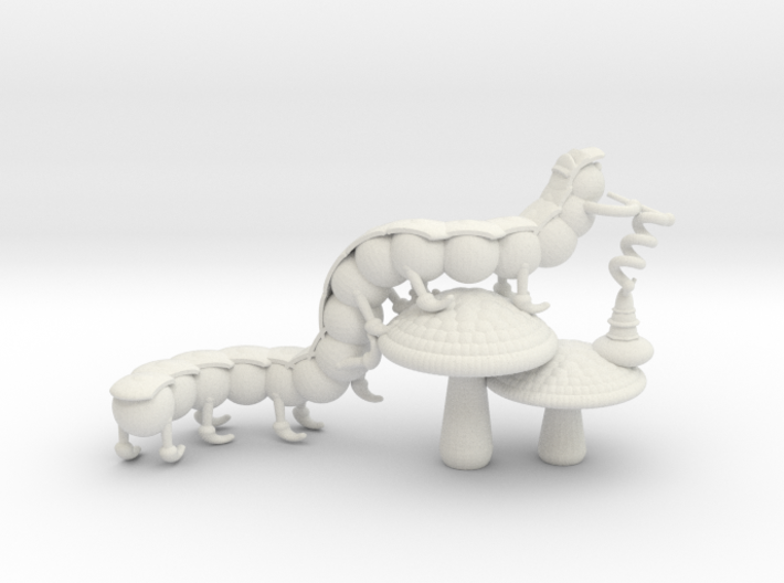 Alice's Caterpillar 3d printed