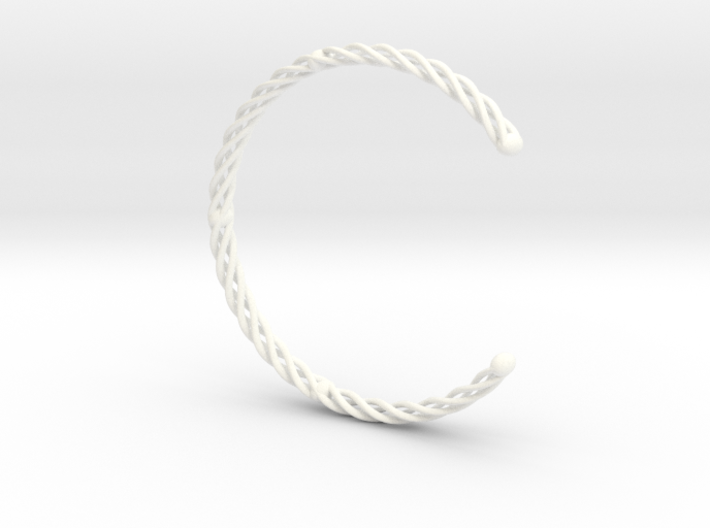 SPIRAL Bracelet Cuff Medium Large 3d printed