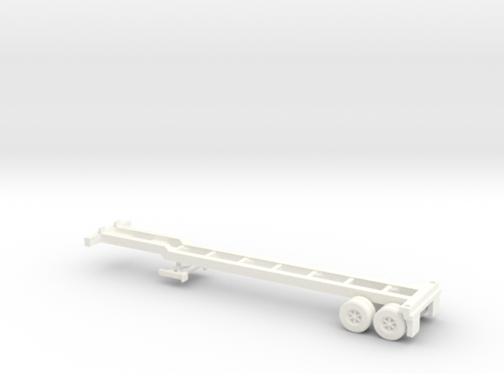 Z Scale Intermodal Trailer Chassis 3d printed
