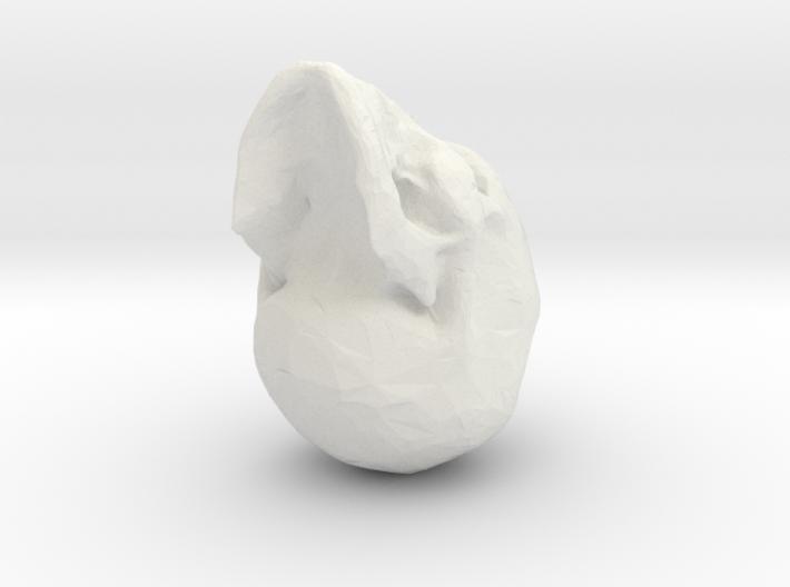 lowpoly skull 3d printed