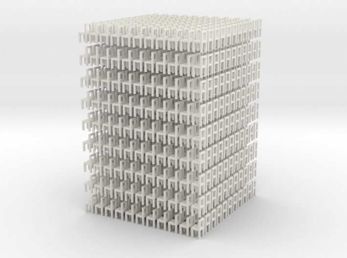 Lots of chairs ! 3d printed