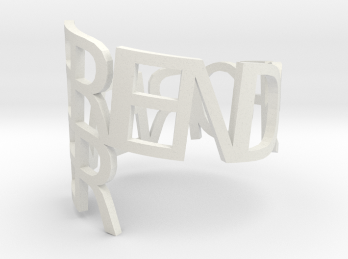 Ring Poem Friends 3d printed
