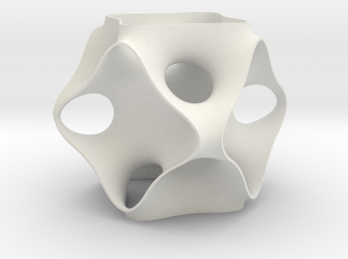 Schoen's OCTO periodic minimal surface 3d printed
