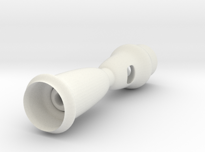 whistle shape 3d printed