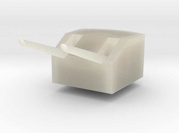 Cañón doble (double cannon) 3d printed