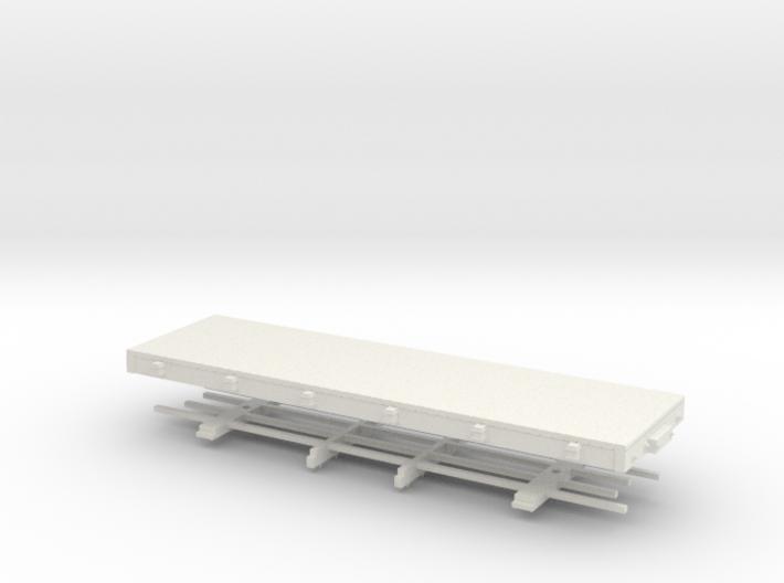 HOn30 24 ft flat 3d printed