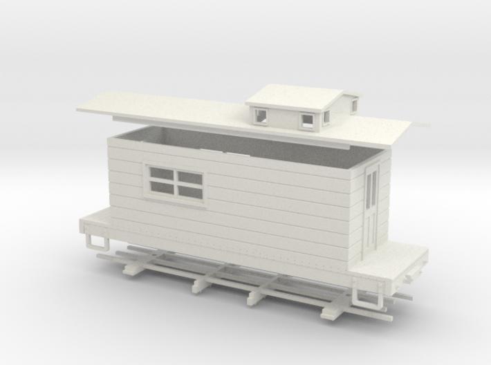 HOn30 logging caboose 4 3d printed