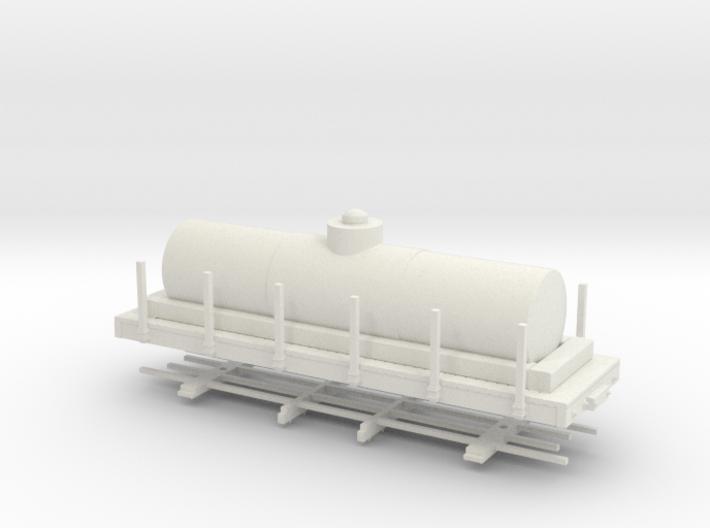 """HOn30 24 ft tank car 4'8"""" diameter 3d printed"""