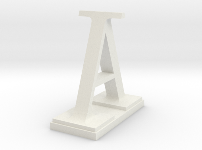 Two way letter / initial A&I 3d printed