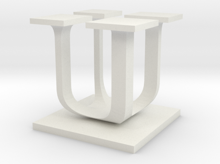 Two way letter / initial U&U 3d printed