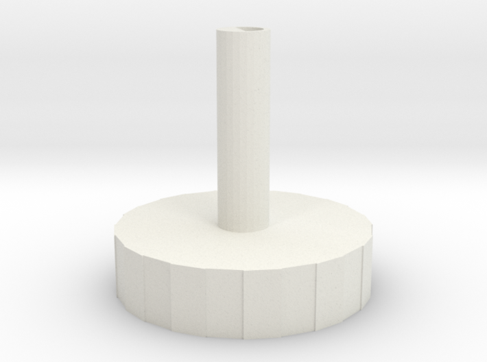 Tuning Dial 3d printed Rendered in White