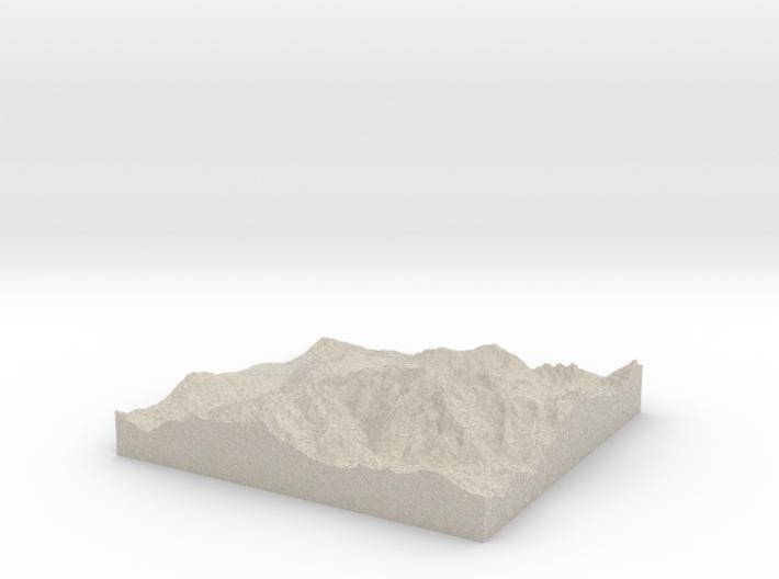 Model of Les Gens 3d printed