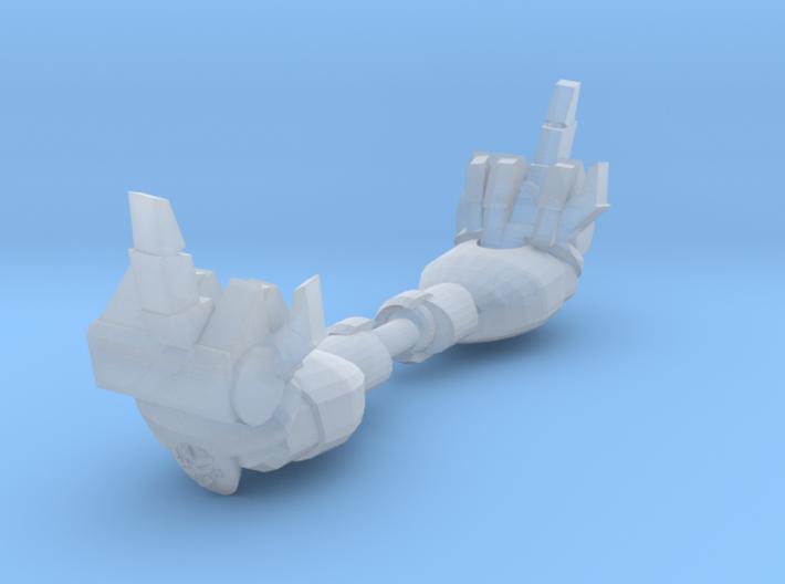 Mk1 - Rude Techno-Fist (F*** You) (x2) 3d printed