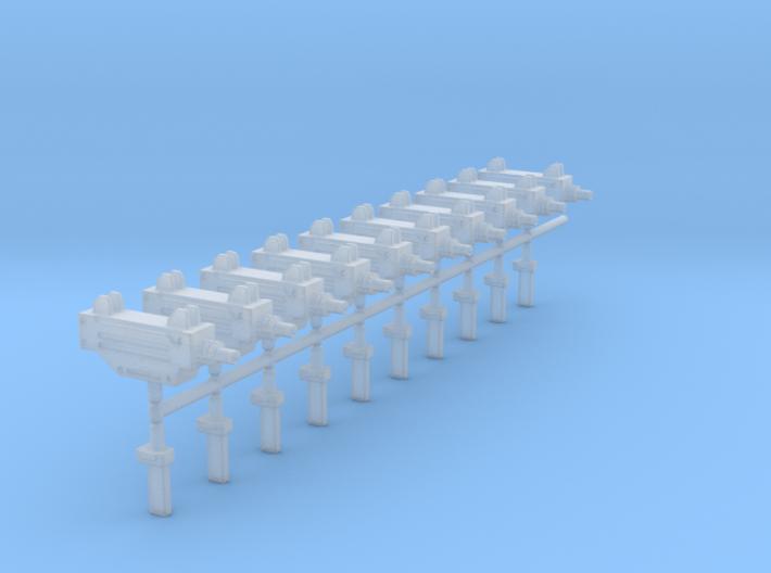 10 Miniature Uzis 3d printed
