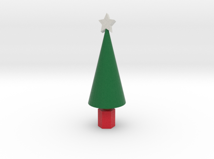 Xmas Tree with star 3d printed