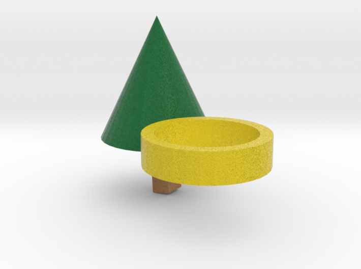 Xmas Tree Ring 3d printed
