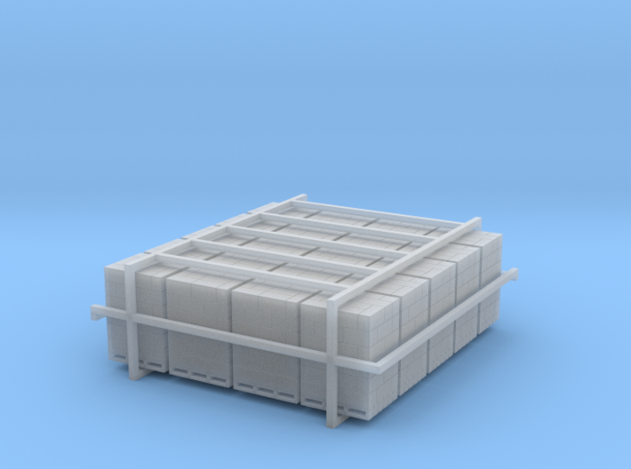 20 Pallets Of Boxes 1:120 3d printed