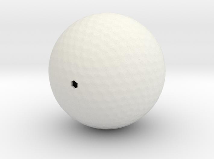 Golf ball hollow 3d printed
