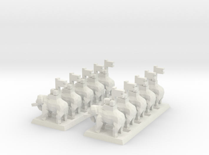 2mm Elephant (x10) 3d printed