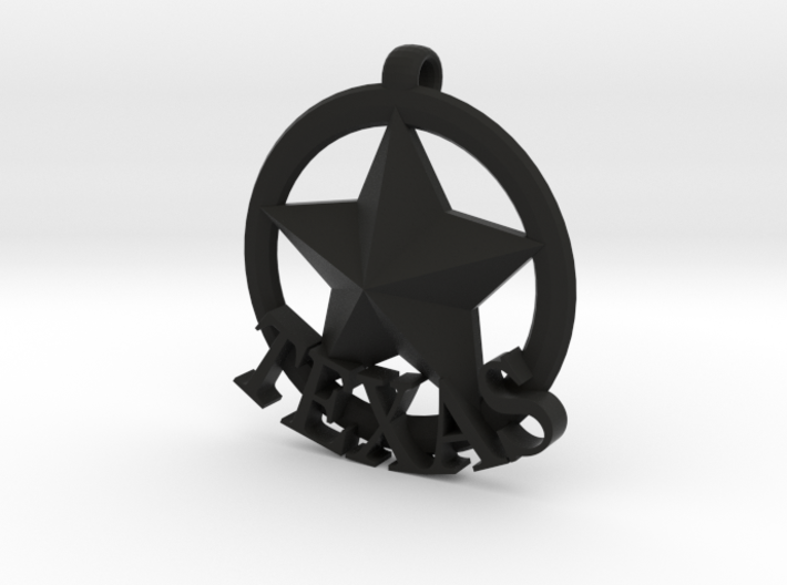 basic TEXAS badge 3d printed