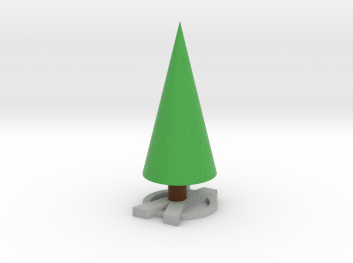 Realistic X Based Xmas Tree 3d printed