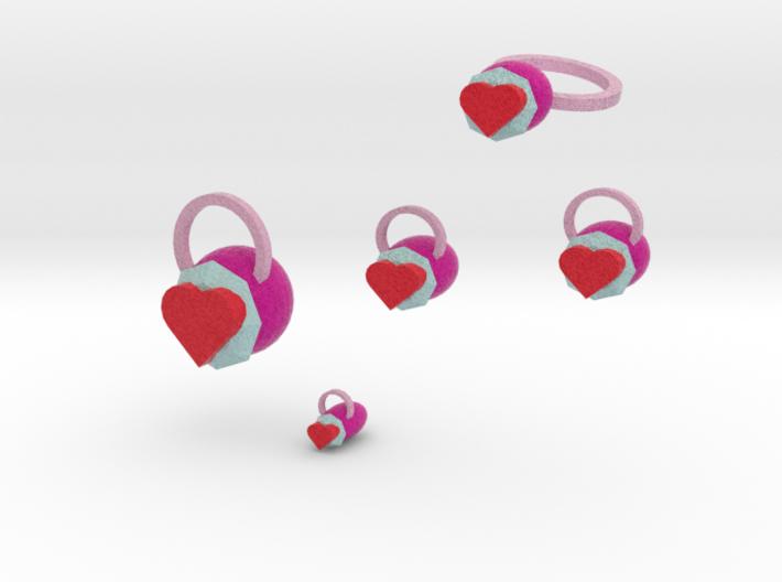 Heart Felt Jewelry Set 3d printed