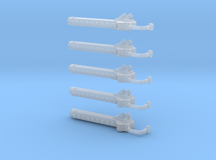 5 Chain swords left handed 3d printed
