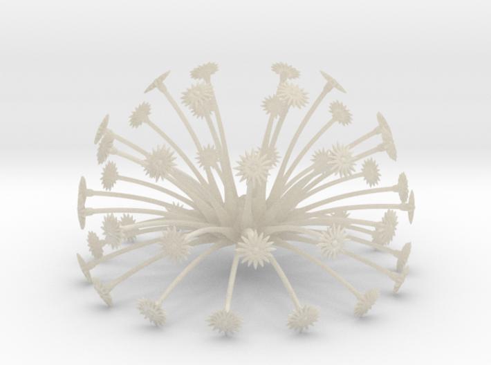 Flowerhead 8 - sparse 3d printed