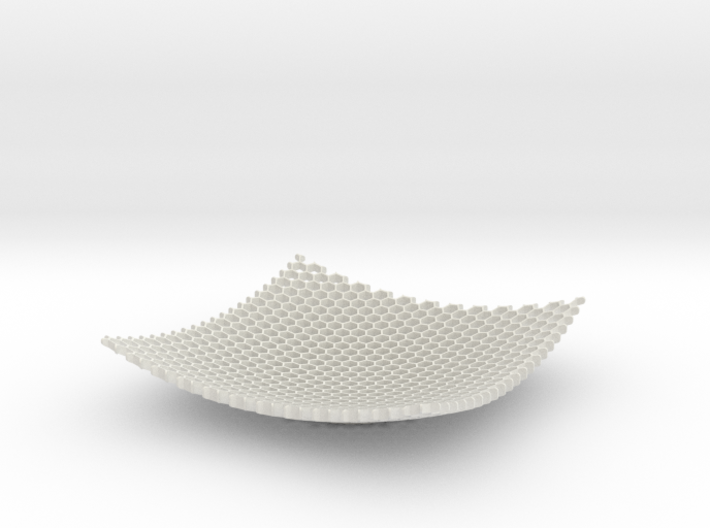Large Honeycomb Fruit Bowl Key tidy 3d printed