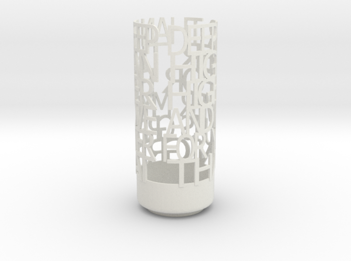 Light Poem Deep 3d printed