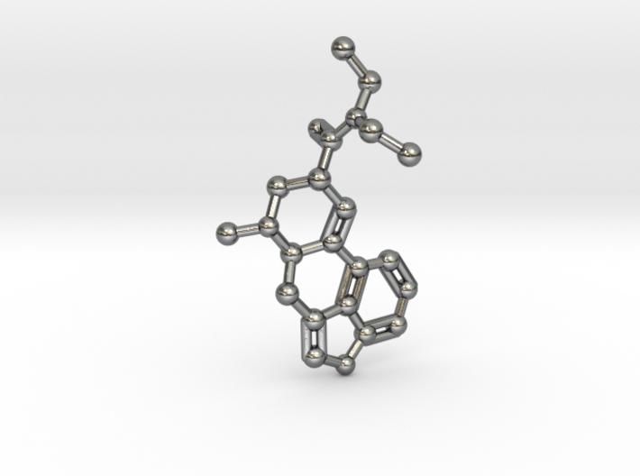 LSD Molecule Keychain / Pendant 3d printed
