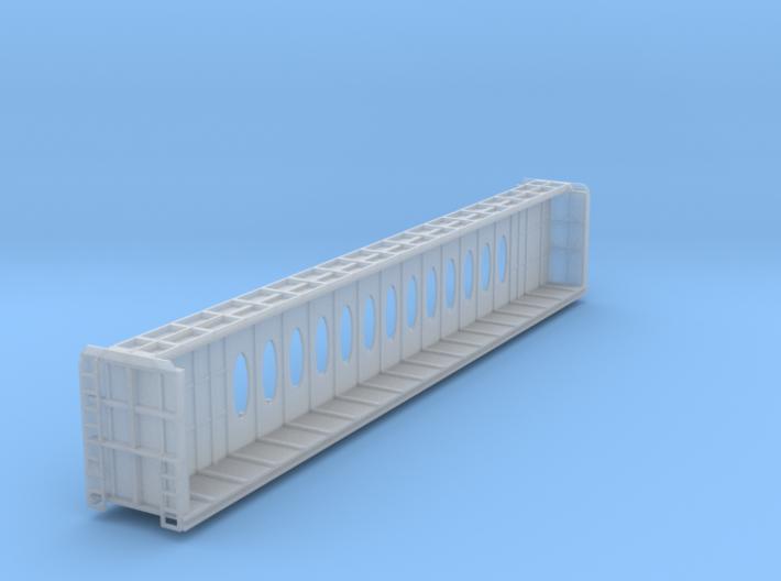 Z Scale Centerbeam Flat Car W/Opera Windows 3d printed