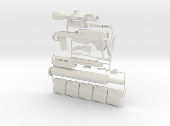 1/6 scale Russian VKS Sniper Rifle 3d printed