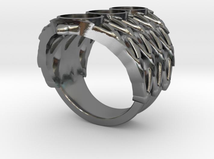 BlakOpal Lace Goth Ring 3d printed