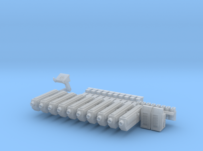 28mm X-1 Compact Assault Rifle (10 Pack) 3d printed